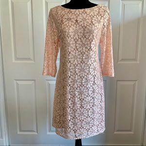 Jessica Howard Peach Lace Dress